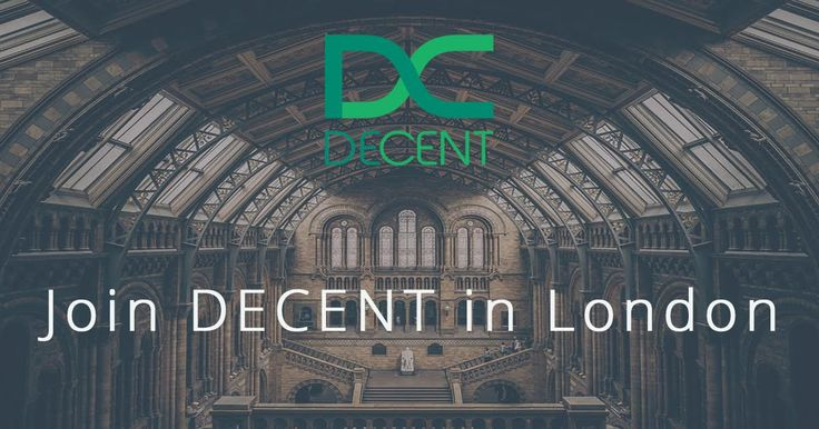 DECENT's heading to London. Join us!