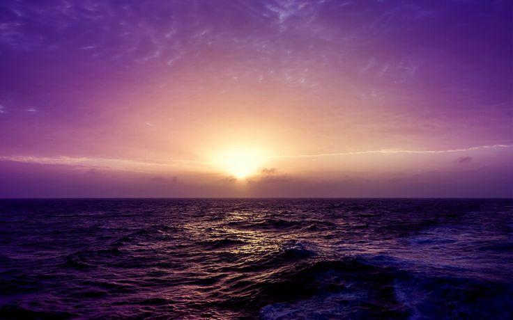 sea sunset purple Wallpapers HD