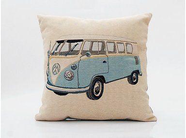 Kussen Volkswagen lichtblauw - #wonenvoorjou