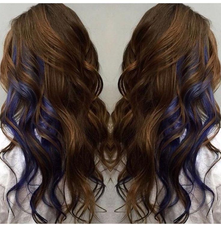 Best 25 blue hair highlights ideas on pinterest blue hair streaks dark hair caramel highlights hair pinterest pmusecretfo Image collections