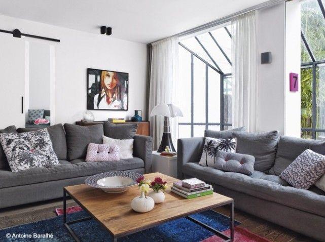 Un loft arty comme on aime salons loft and deco - Les plus belles decoration de maison ...