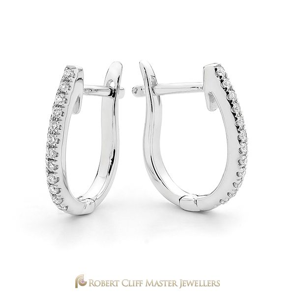 Classic in style, these #diamond hoop #earrings are sure to become your favourites!   Discover more of our #jewellery designs here: bit.ly/RCMJdiamondearrings