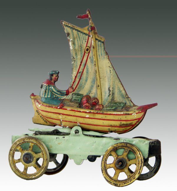 Antique toy boat
