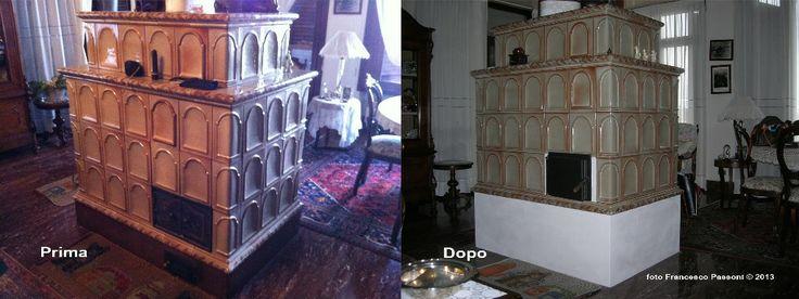 Ricostruzione a seguito rottura di vecchia stufa in maiolica Jasba