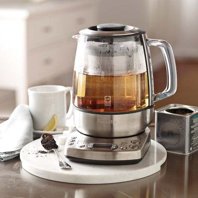 Not only does this brewer automatically brew tea at five different temperature settings, but the brew strength of each pot can be adjusted between mild, medium and strong.