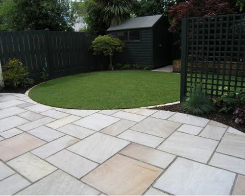Shaped Driveway Landscaping : Best images about paving pathways on