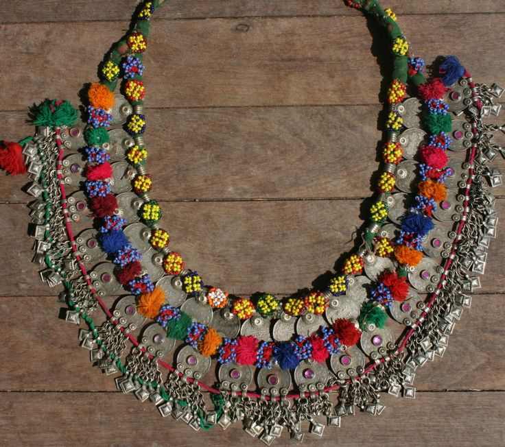 Vintage tribal coin necklace.