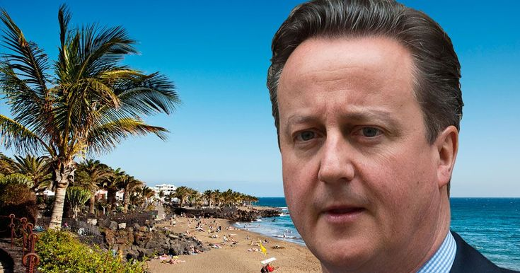 "Our Part time Prime Minister. The Prime Minister jetted off on a budget flight to the canaries, where he'll have some ""time to think"""