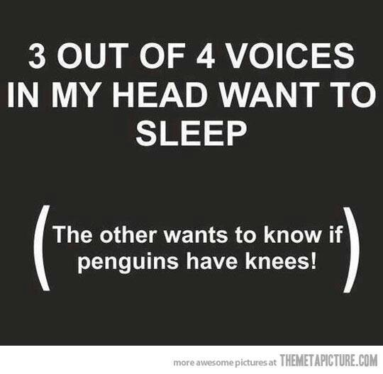Hihi, maar zonder grappen....... Ik kan echt niet slapen.