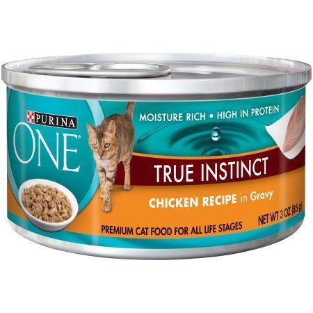 Purina ONE True Instinct Chicken Recipe in Gravy Premium Cat Food 3 oz. Can