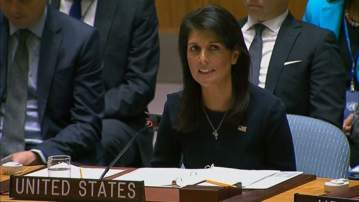 "2017-09-04 20:09:04   U.S. Ambassador to the United Nations Nikki Haleytold the Security Council today that its incremental approach toward getting North Korea to stop its nuclear program has failed. ""To the members of the Security Council, I must say, enough is enough,"" she said at... - #En, #Haley, #Koreas, #Nikki, #North, #Nuclear, #Program, #Us"