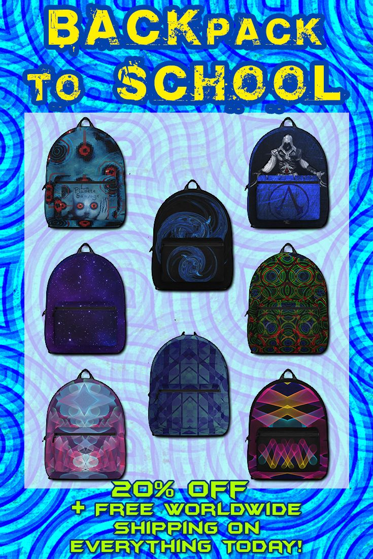 20% Off + Free Worldwide Shipping on Everything Today! Backpacks for Campus, School and Travel by Scar Design. #backpacks #backpack #campus #sales #saving #discount #backtoschool #schoolbackpack #freshman #college #collegebackpack #travelbackpack #giftsforhim #giftsforher #kidsgfts #teenagergifts #teenager