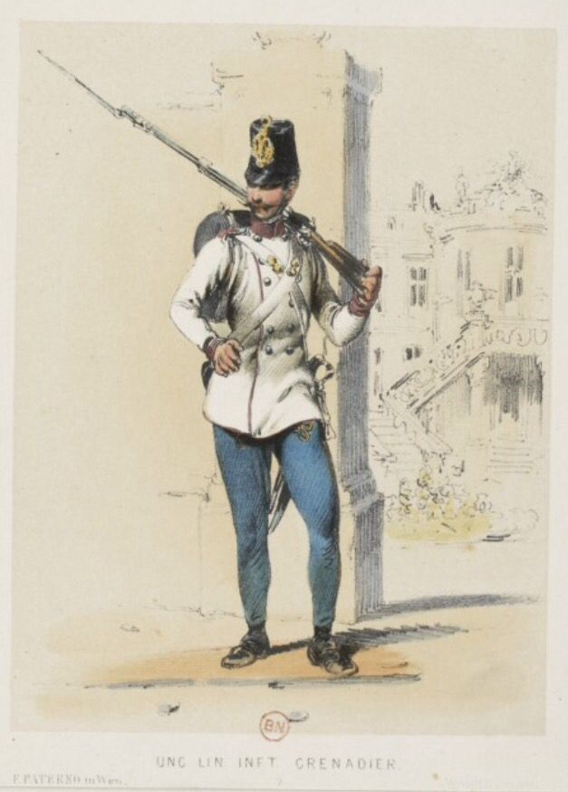 Hungarian grenadier, 1859
