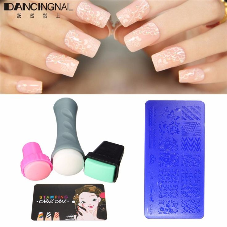 4pcs /set Nail Art Stamp Stamping Plates Manicure DIY Design Manicure Nails Beauty Tools + Stamper Card