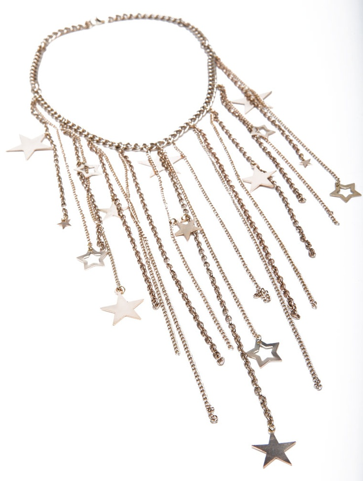CHAIN WATERFALL STAR NECKLACE