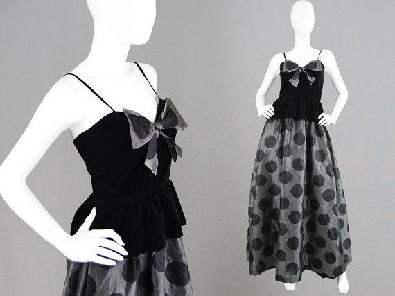 Vintage 70s 80s GINA FRATINI Silk Evening Dress by ZeusVintage