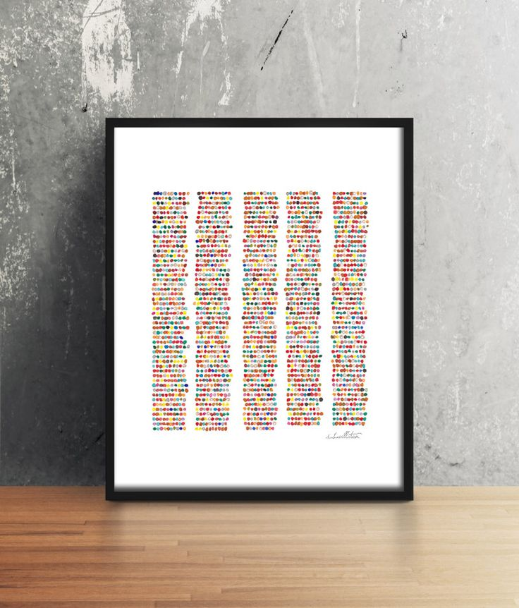 Amino Acid Sequence CEP290, Amino Acids, genome, genetics, science, science art, biology, biology art, science gift, watercolor, print, art by sandraculliton on Etsy https://www.etsy.com/listing/463505983/amino-acid-sequence-cep290-amino-acids