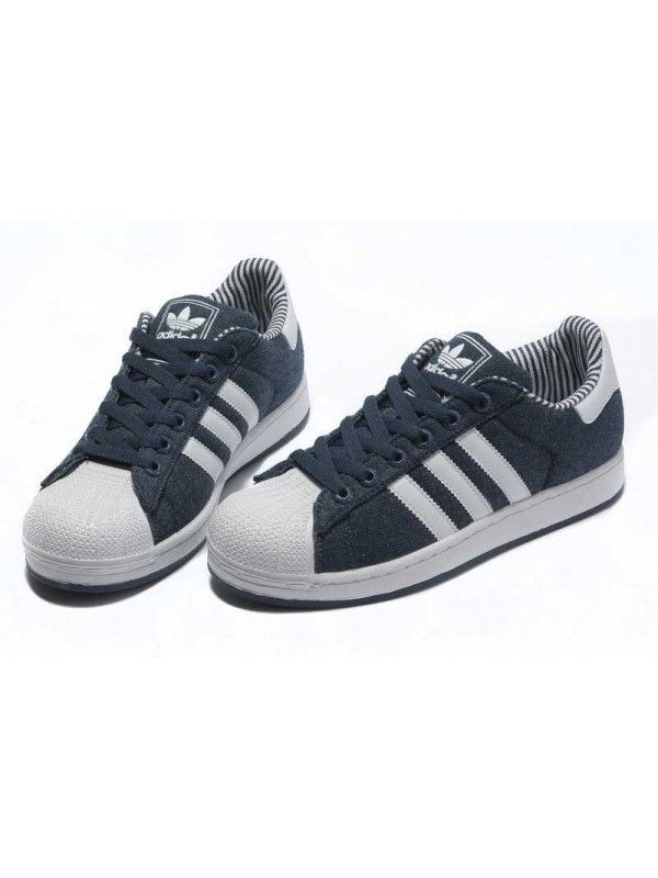 separation shoes dc1ce b6121 Adidas Superstar 2 Herr Blå Vit SE086774