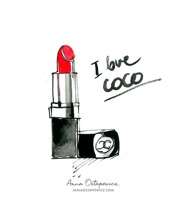 Chanel Lipstick, Illustration Anna Ostapowicz
