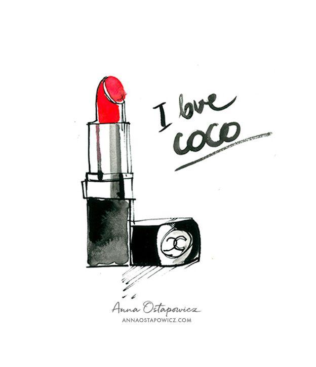 Chanel Lipstick, Illustration Anna Ostapowicz