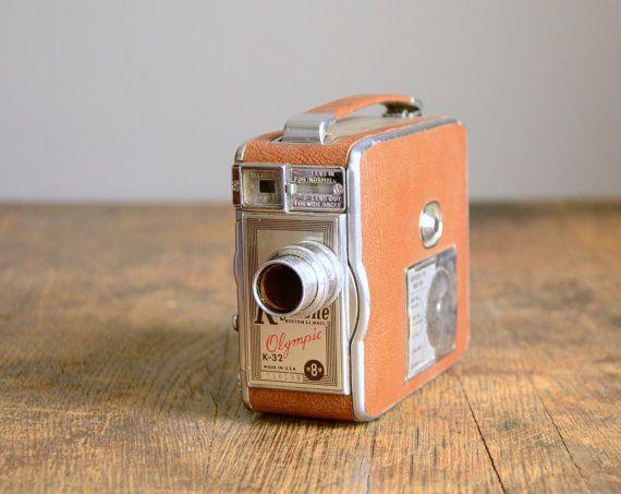 Vintage Camera .. 1950s Keystone K-32 Olympic 8mm Movie Camera