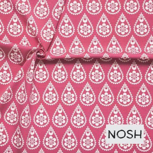 Paisley Drops, Pink. Organic Cotton Jersey €24,90/m