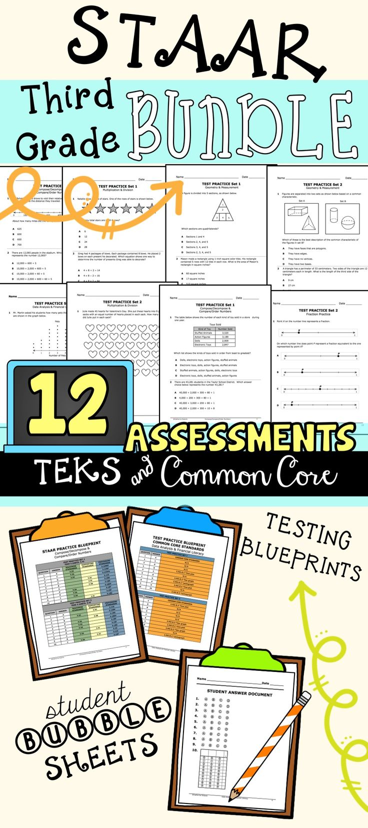 72 best 6th grade staar images on pinterest math lessons math 3rd grade math staar test prep bundle all teks included common core alignment malvernweather Images