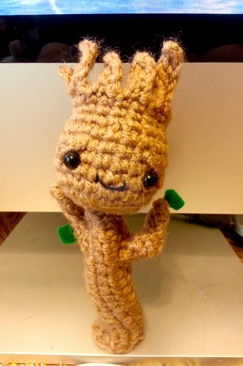 Crocheted Groot Round-Up
