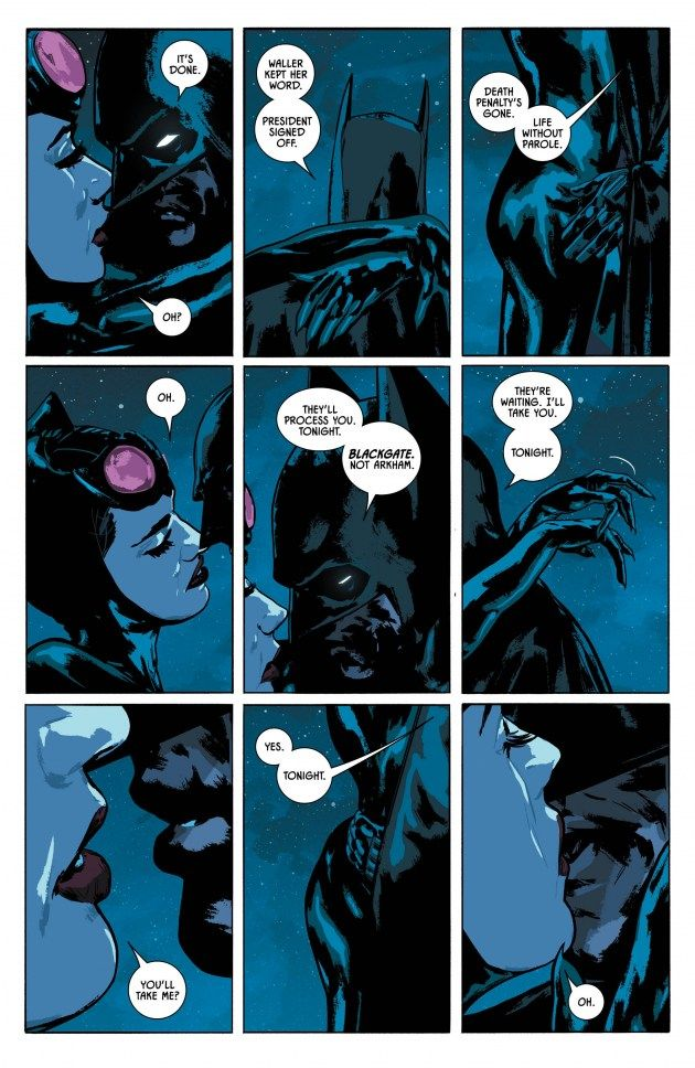 After a successful mission in South America, Tom King and Mitch Gerads' Batman #14 features Bruce and Selina having one last night together.