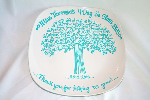 Teachers Appreciation End of School Year Graduation Class Gift Family Tree Class Tree Personalized Custom Name Plate on Etsy, $25.00