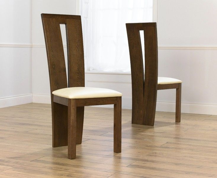 Montreal Dark Solid Oak Dining Chairs. Part 34