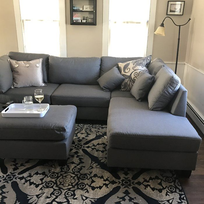 Hemphill 104 Reversible Sectional With Ottoman In 2020 Small Living Room Decor Living Room Remodel Farm House Living Room #small #living #room #ideas #with #sectionals