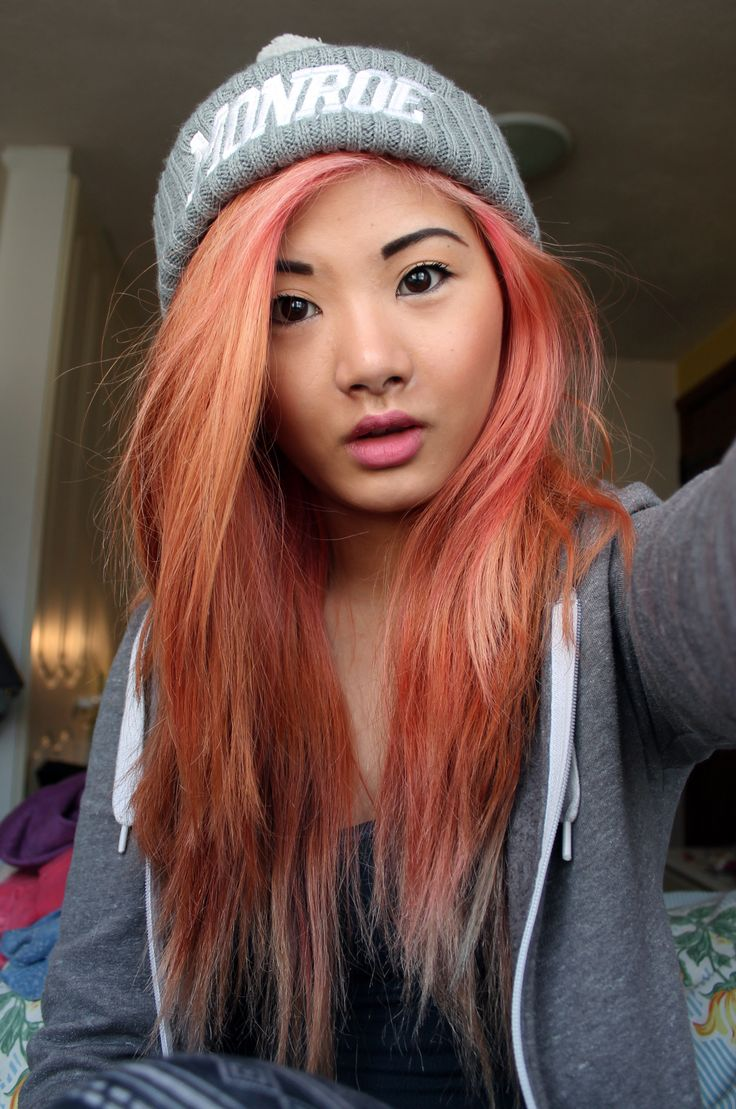 pink/orange hair | Hair. | Pinterest