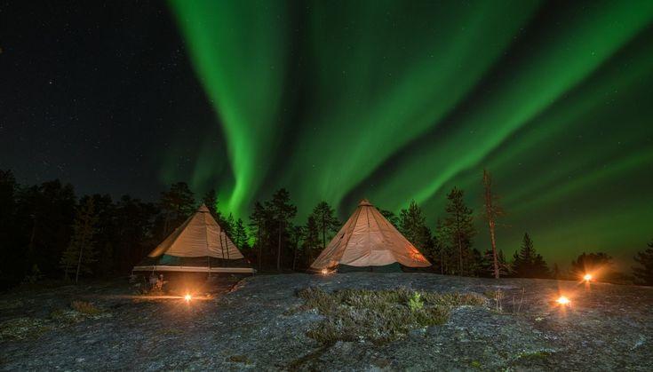 luxury teepee_northern lights