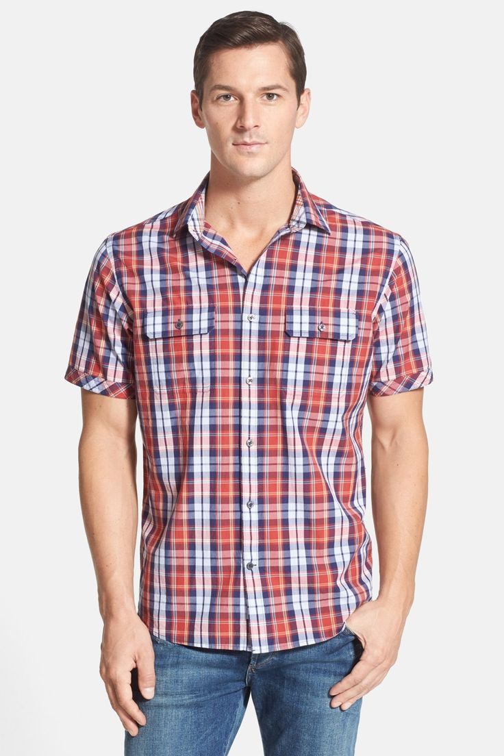 James Campbell 'Carthage Plaid' Short Sleeve Sport Shirt by James Campbell on @nordstrom_rack