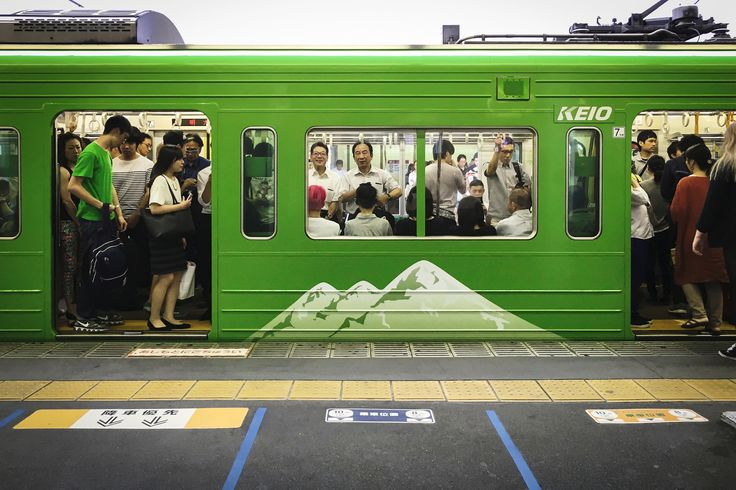 https://flic.kr/p/JPKQqe | KEIO LINE | This is a train that has been wrapped in the motif of the Mt.Takao.