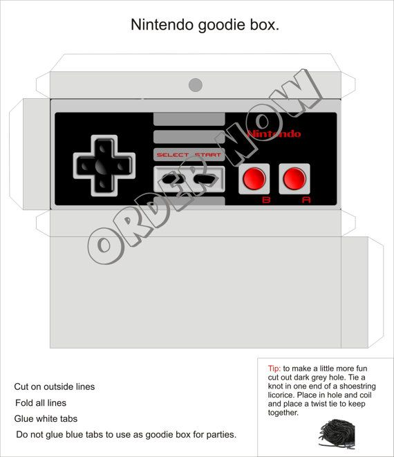 #Nintendo #controller goody box #Birthday #party DIY by Aluminumguy, $5.00