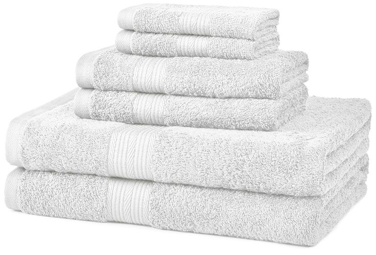 Fluffy Soft & Absorbent For a coordinated, everyday ensemble, turn to this six-piece cotton towel set by AmazonBasics. The plush towel set offers a lig