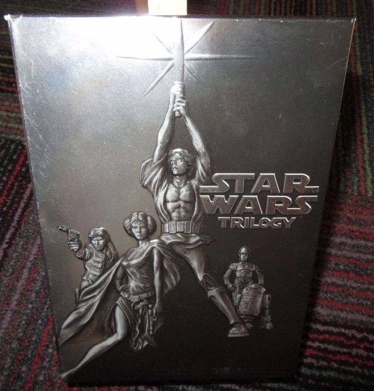 STAR WARS TRILOGY 4-DISC DVD BOX SET, NEW HOPE,EMPIRE STRIKES BACK,RETURN +BONUS