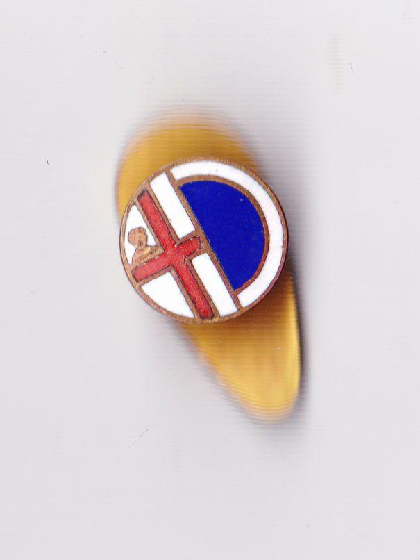 Vintage enamel AC Mantova MANTUA ITALY Football Club buttonhole lapel badge pin