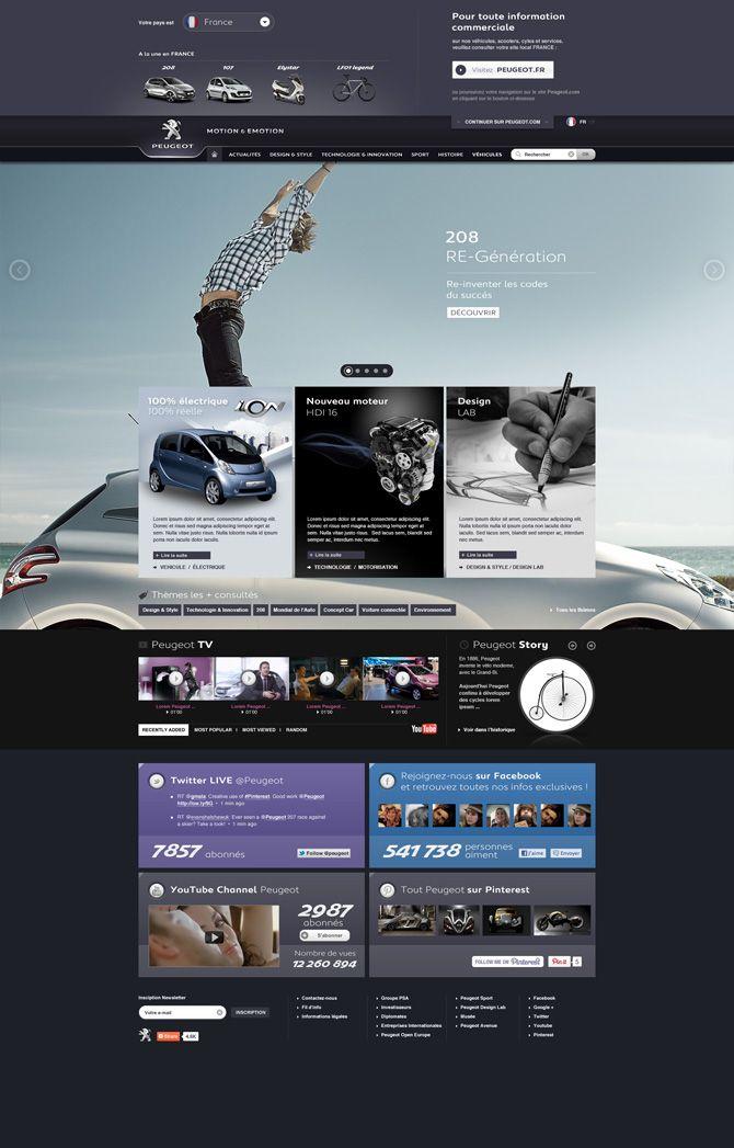 Peugeot - #it #web #design #layout #userinterface #website #webdesign <<< repinned by www.BlickeDeeler.de