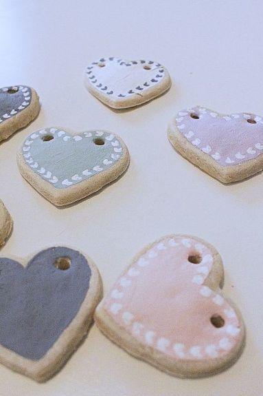 DIY Valentines Salt Dough Banner