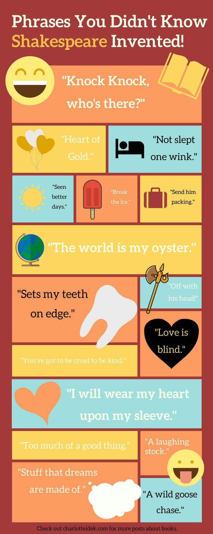 Here Are A List Of All The Everyday Phrases You Use Everyday That Shakespeare Invented New Things To Learn Weird Words Best Quotes From Books