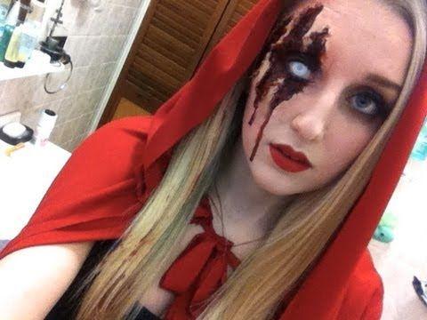 Little DEAD Riding Hood Halloween Tutorial - YouTube