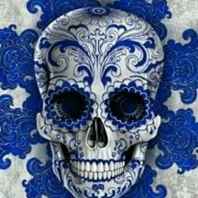 Skull skull printsugar skullssugar skull artsticker