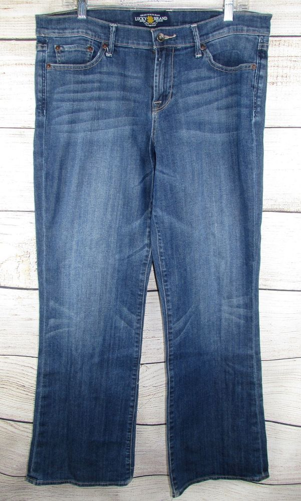 LUCKY BRAND womens Jeans 14 Sweet  N Low Dark Blue Wash Stretch 36x32   LuckyBrand 070ea3d2ac