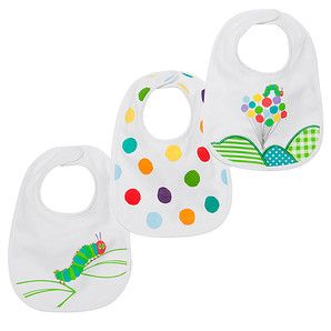 The Very Hungry Caterpillar 3 Pack Bibs