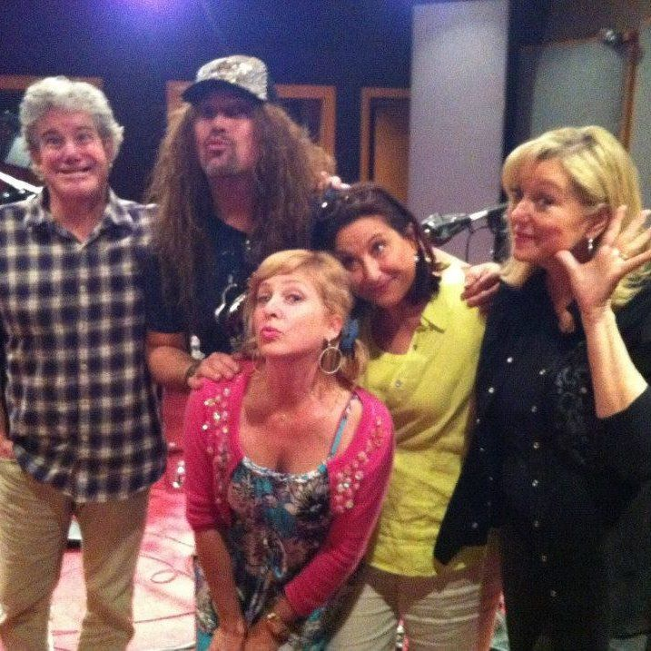 The Adventures in Odyssey cast! Townsend Coleman (Jason), Jess Harnell (Wooton), Kimmy Robertson (Penny), Katie Leigh (Connie), and Chris Anthony Lansdowne (AIO host).