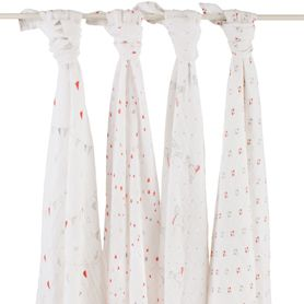 """Aden & Anais """"Make Believe"""" classic swaddles 4 pack $50"""