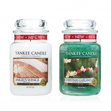 @theyankeecandle Set due candele in giara di vetro grande, fragranze natalizie #home #fragrance #gifts #candle